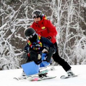 Bring some joy by helping a child with a disability experience the thrill of winter sports.Track 3 teaches youth with disabilities to ski and snowboard, helping to build their confidence and sense of accomplishment.