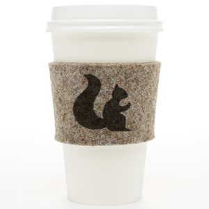 Wrap a hot drink in a warm hug with a cozy felt cup sleeve, and save a disposable sleeve from the garbage.