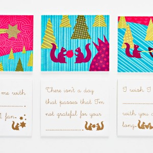 Brighten someone's day with this trio of fill-in-the-blank message cards.